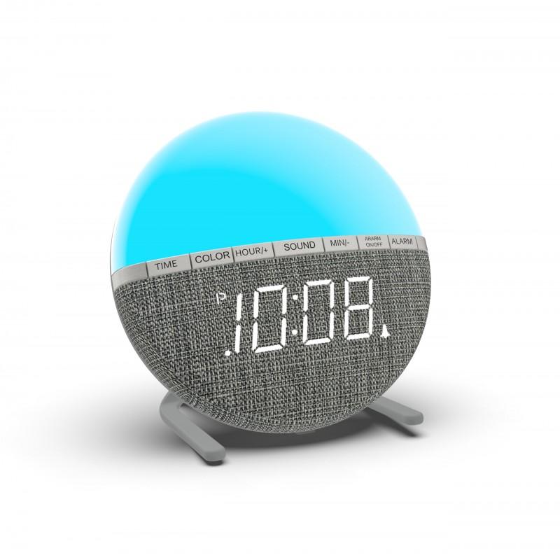 2021 Digital LED 8 Natural Sound Children's Sleep Trainer 7 Color Light Alarm Clock