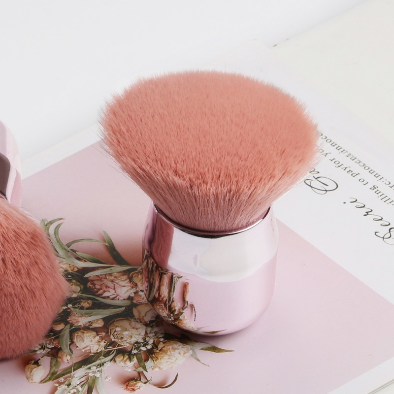 Personalised Cuty Mini Pink Custom Logo Oblique Makeup Brush 2021