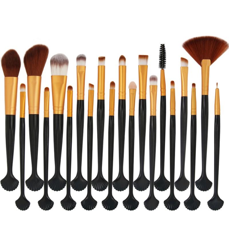 Wholesale 20pcs custom makeup brushes wood handle eyeshadow brush set