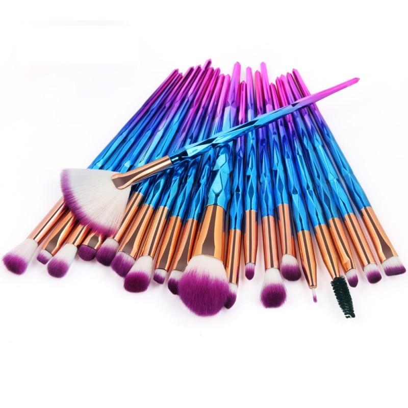 Travel Bling Gradient Custom Vegan Kit De Maquillaje Makeup Brushes Logo Set