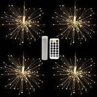 Festival Chargable 480 Led Outdoor Decoration Hanging Copper Wire Led Fireworks Starburst Fairy String Lights
