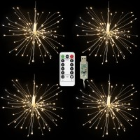 Wedding Decoration USB Power Hanging Starburst String Lighting With Remote Control Fairy Twinkle Lights