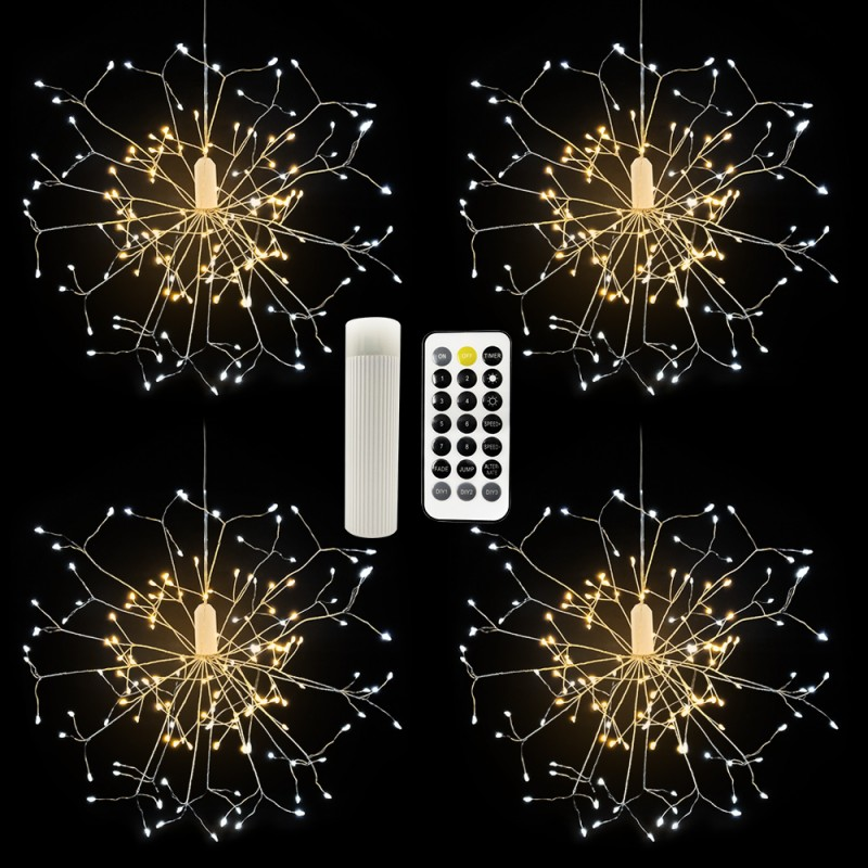 Flower Shape Led Hanging Starburst Lamp Christmas Party Wedding Holiday Decoration Lighting With Remote Control
