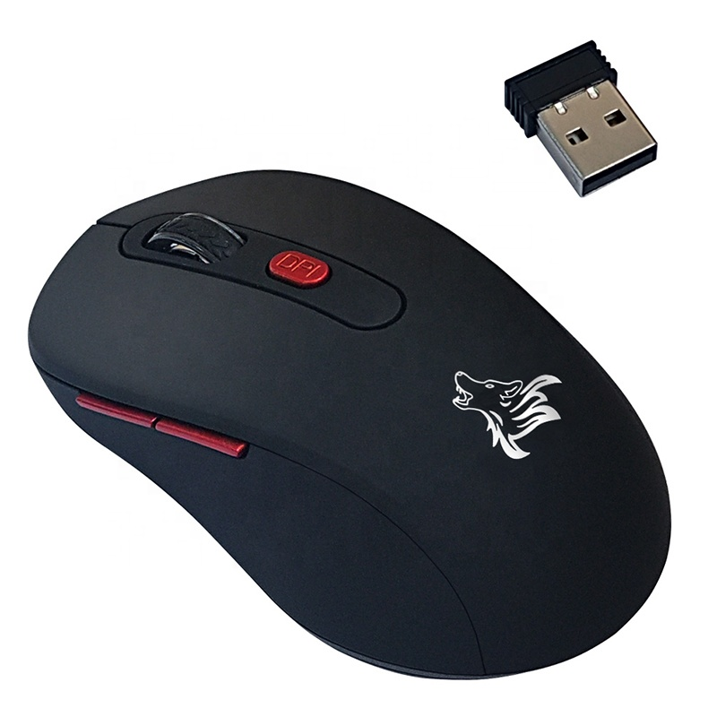 2.4G Wireless Battery Mouse Computer Accessories OEM Customized 6D Gaming Mouse with Wireless Mouse Receiver