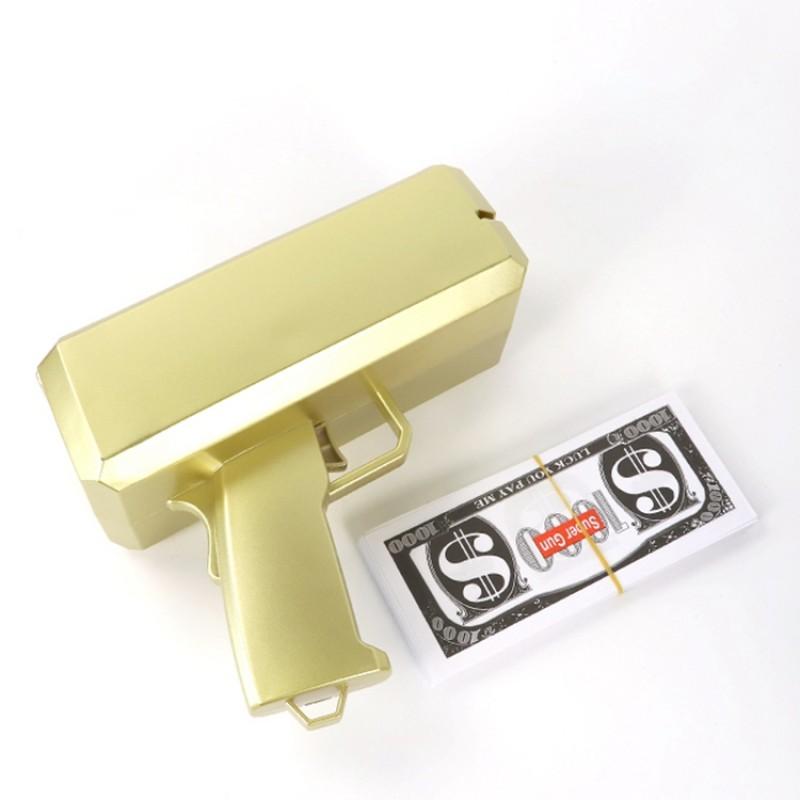 Wedding Festival Plastic Cool Rain Party Club Cash Cannon Throw Gold Spray Money Gun