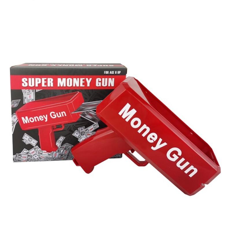 Hot Selling Cheap High Quality Custom Super Spray Money Cash Gun Toy