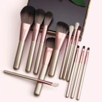 luxury pink birch wood handle nylon brochas de maquillaje profesional makeup brush set