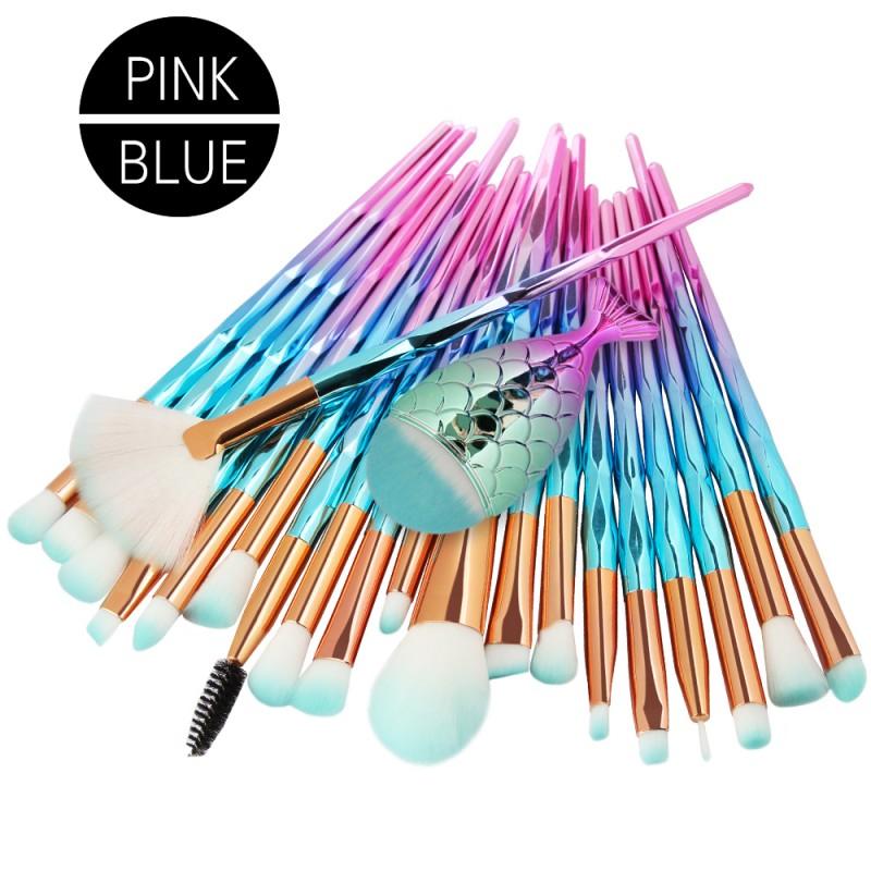 OEM Factory Foundation Brushes Kit Diamond Makeup Brush Set Gradient Handle
