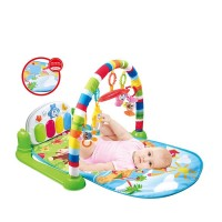 Soft Crawling Plush Quality Play Gym Piano Music Rack Activity Baby Mat,Baby Mat With Piano