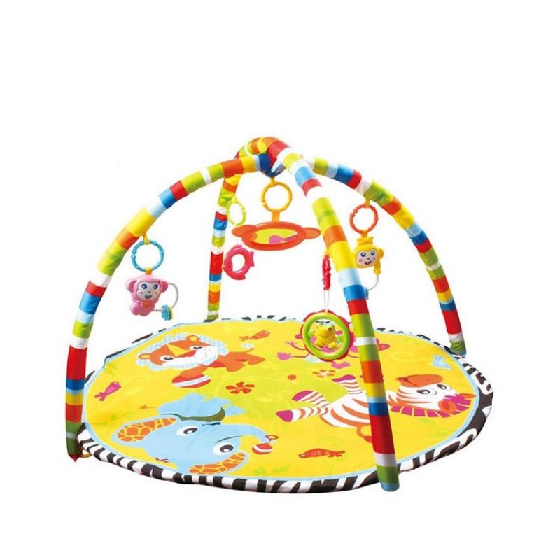Oem Super Crawl Folding Soft Plush Storage Bag Lie Padded Round Kid Play Gym Toy Baby Mat