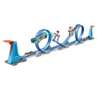 2021 High Quality Fun Children's Double Ejection Racing Truck Catapult Alloy Toy Car