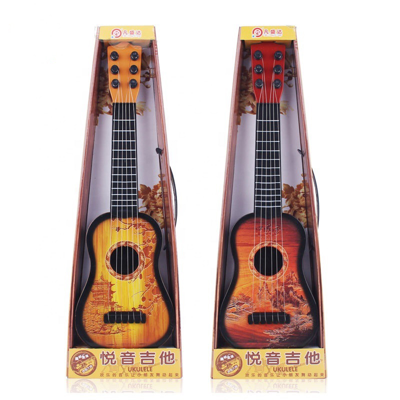 Mini Chinese Style Children's Musical Instrument Education Music Small Acoustics Plastic Children's Guitar Toy Practice Gift