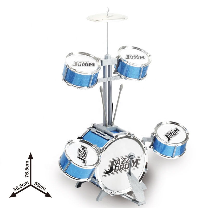 High Quality Drum Set For Children's Education Music Toys Large Jazz Drum Performance Set