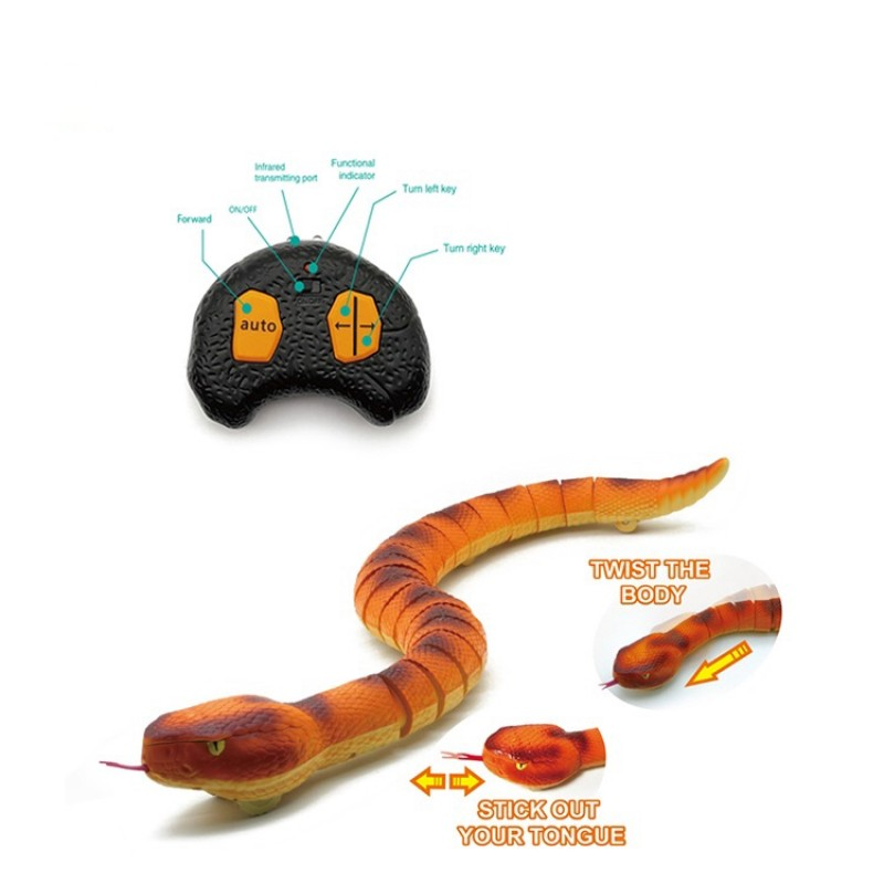 2021 Hot Wholesale Remote Control Prank Electronic Toy Plastic Rc Snake