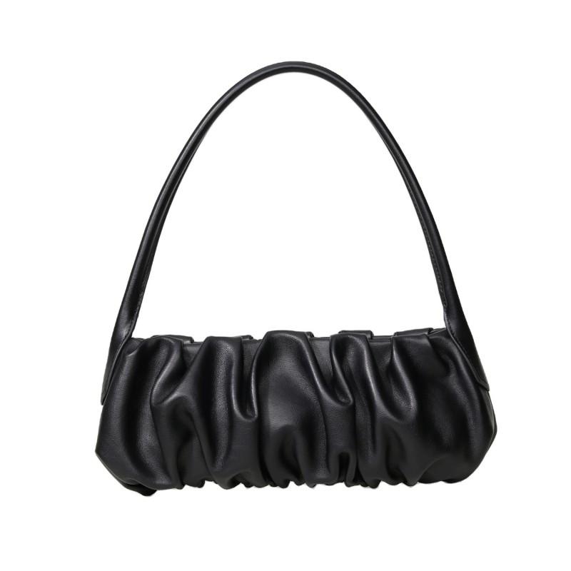 Fashion Leather luxury ruched hobo underarm armpit women shoulder bag handbags