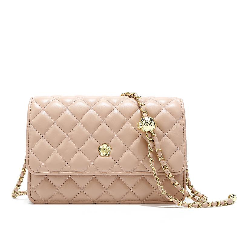 Famous branded quilted Genuine leather women shoulder purses flap bag handbags