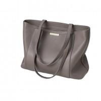 Capacity ladies soft leather latest design ladies Grey tote hand bag purse tote handbags