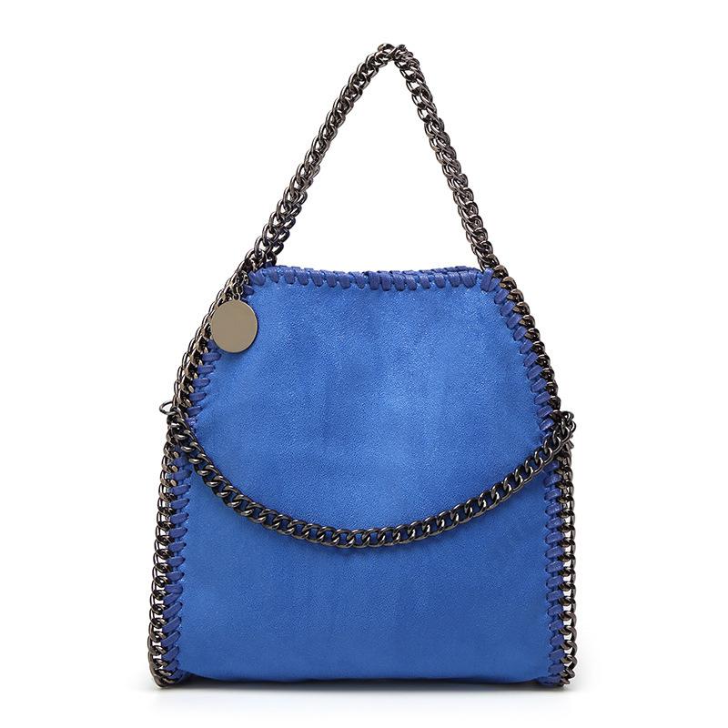 Chain womens shoulder gold Chain trim handbags casual chain tote bag purse