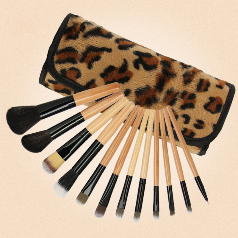 Makeup Tools Custom Vagan 12pcs Makeup Brush Set Natural Hair Cosmetics