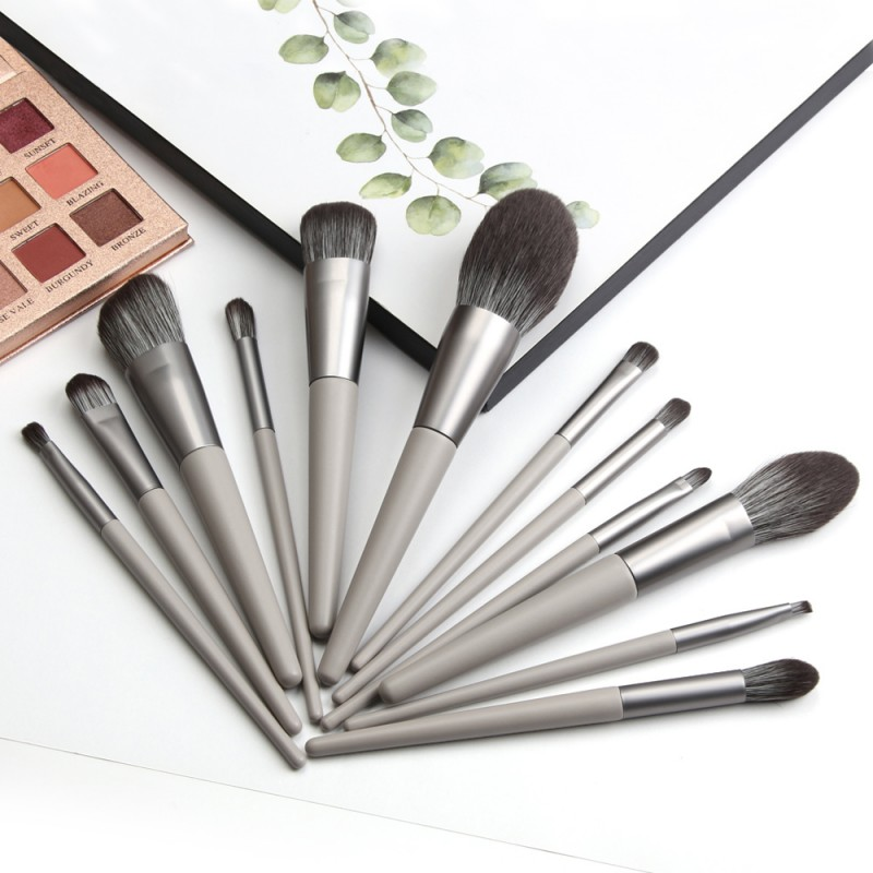 Fancy gray professional makeup brush set makeup brushes manufacturer private brush