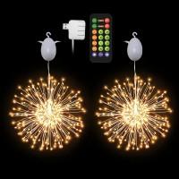 Portable Usb Electric Led Firework Lights Garden Led Fireworks Night Light Christmas Decoration Copper Wire Starburst Light