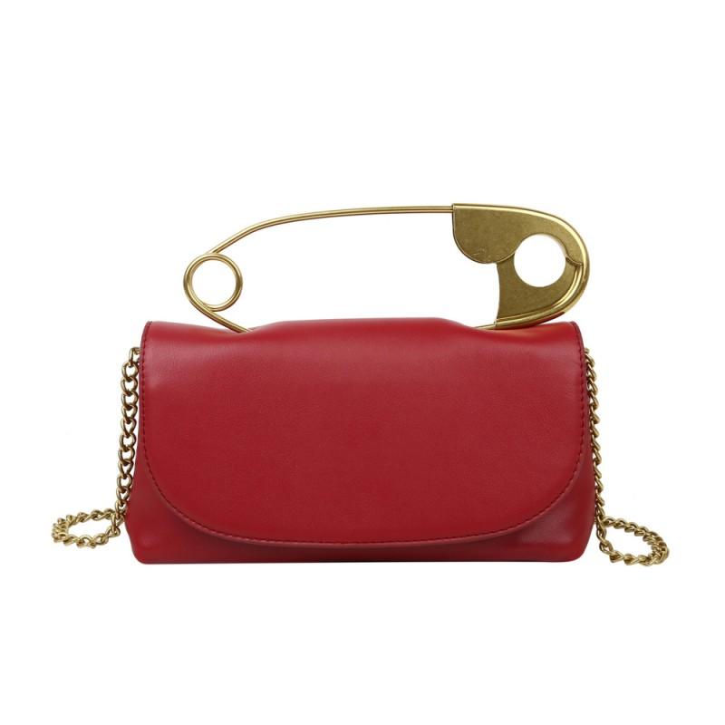 2021 Fashion sac a main femm Metal Top Handle Safety Pin Purse Bags Women Handbags Ladies Clutch Pillow Bags