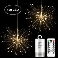Amazon Outdoor Garden Dandelion Wedding Christmas Decoration Lighting Led Firework Light Led Starburst Sting Light
