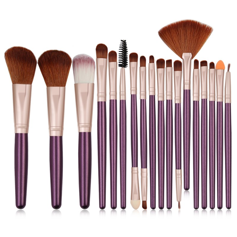 Maange 18pcs Private Label Makeup Brush Set Custom Logo Makeup Brushes