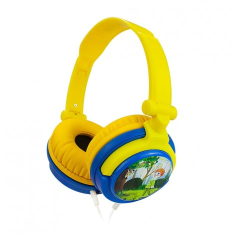 Yellow Hearing Protection Kids Headphones With Sharing Port For kids