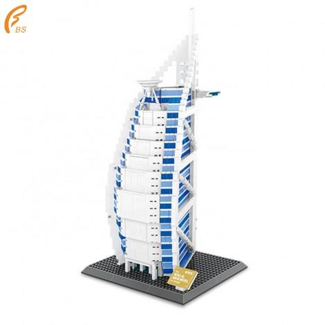 High Quality Plastic Dubai De La Hotel Arabia Toys For Kids Building Blocks