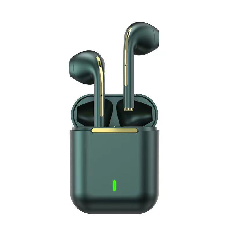 One year warranty colorful J18 type-c in ear BT 5.0 touch control sport waterproof earphones mini tws true wireless earbuds