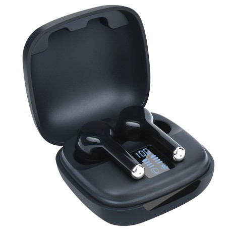 Noise cancelling tws bt 5.0 type-c sport waterproof black mini premium game wireless earbuds