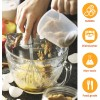 hand Wire flat Whisk Set of 3 mini baking cookin whisk stainless steel piano whip whisk